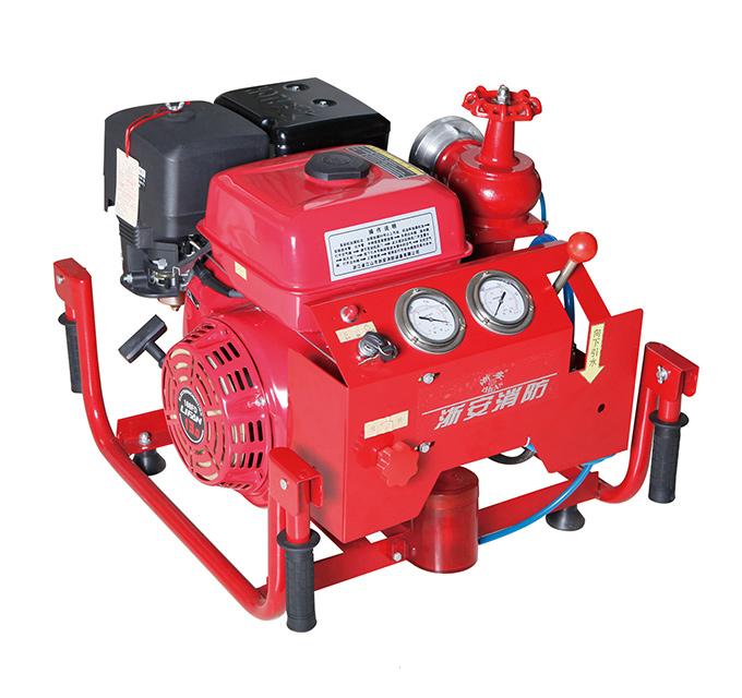 Manual motor fire pump