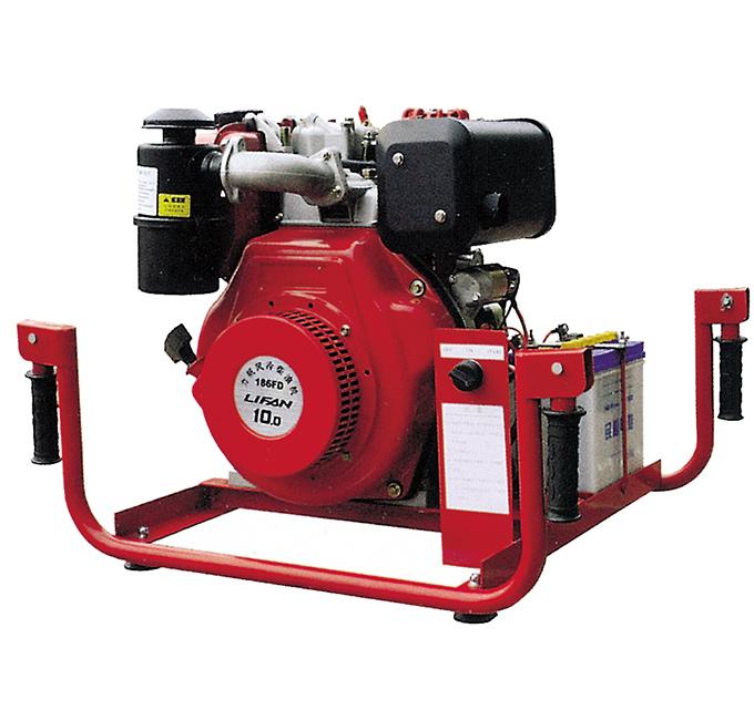 Diesel engine carrying mobile fire pump (10 horsepower)